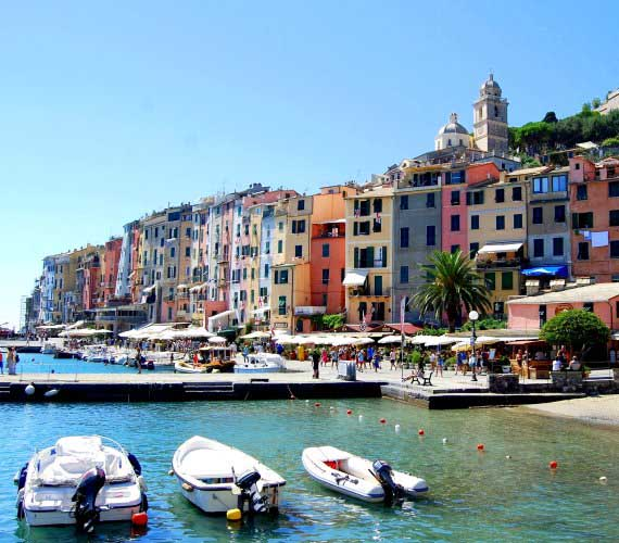 Ligurian Riviera between mountains and sea
